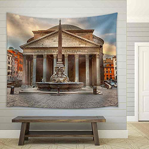 wall26 – Pantheon in Rome, Italy – Fabric Wall Tapestry Home Decor – 68×80 inches