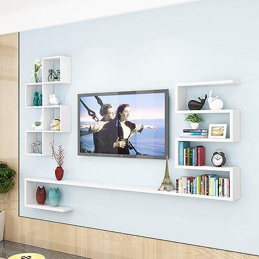 SLMY - Mueble de TV con Pared para Colgar en el salón, Madera, 2 ...