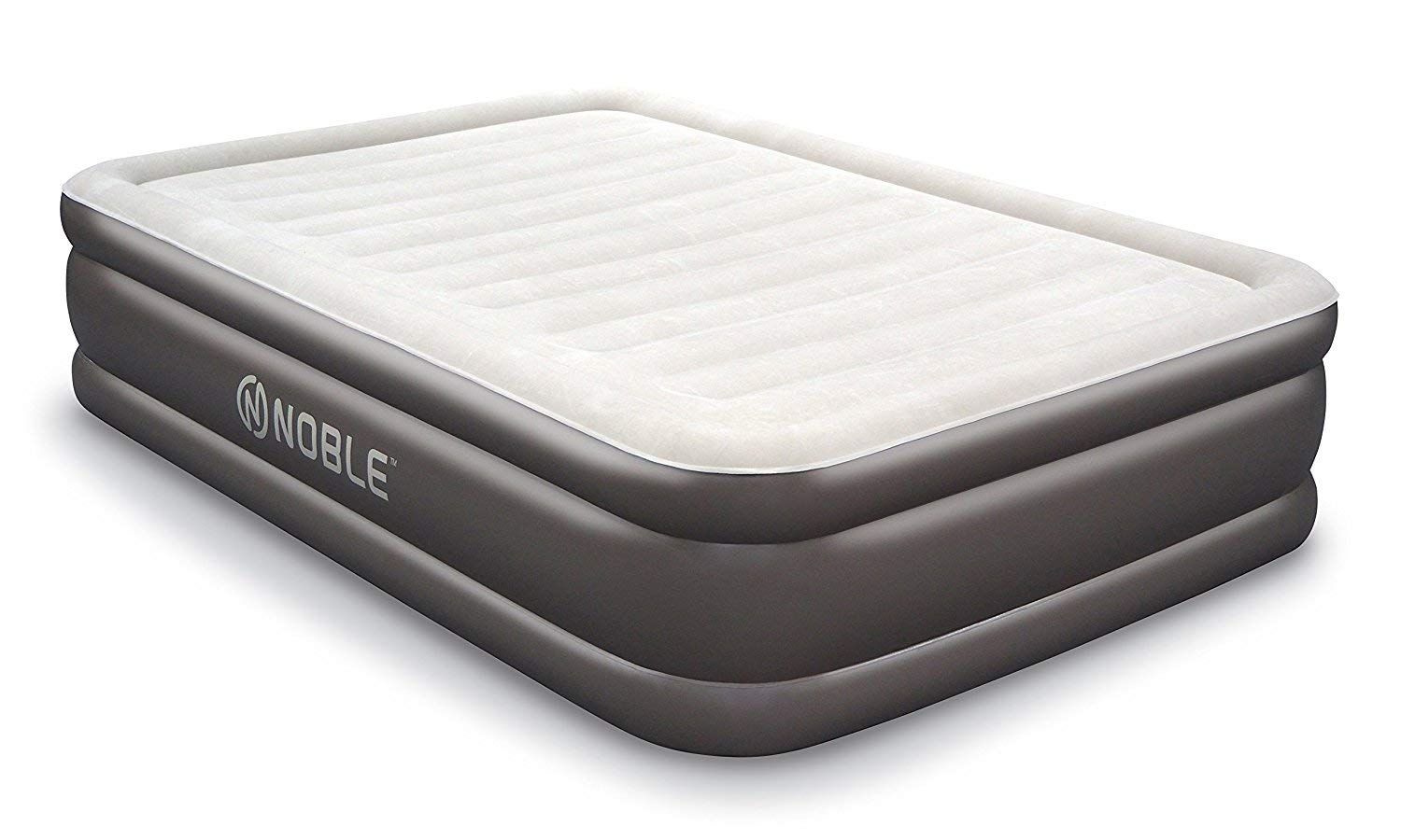 f5f6e247f68 Noble QUEEN SIZE Comfort DOUBLE HIGH Raised Air Mattress - Top Inflatable  Airbed with Built-in Pump - Elevated Raised Air Mattress Quilt Top   1-year  ...