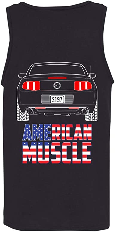 WheelSpinAddict Mens S197 Mustang Coyote 5.0 3.7 V6 2010 2011 2012 Tank Top