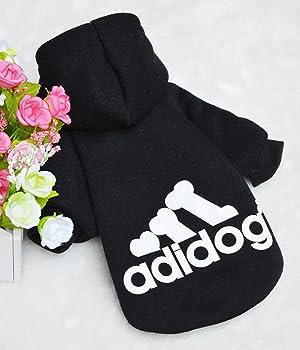 Trudz Pet Large Dog Hoodies, Rdc Pet Apparel, Fleece Adidog Basic Hoodie Sweater, Cotton Jacket Sweat Shirt Coat from 3XL to 9XL (Color: Black, Tamaño: 3XL)