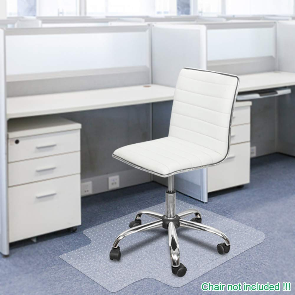 Office Chair Mat for Carpets Waterproof PVC Multi Purpose Office, Home Floor Protector for Hard Floor Thick Highly Quality with Studs 36 X 48 Thick 2.5MM with Lip Nails
