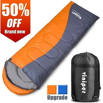 viniper Saco de Dormir, cómodo Sobre Saco de Dormir Impermeable y Ligero con Saco de