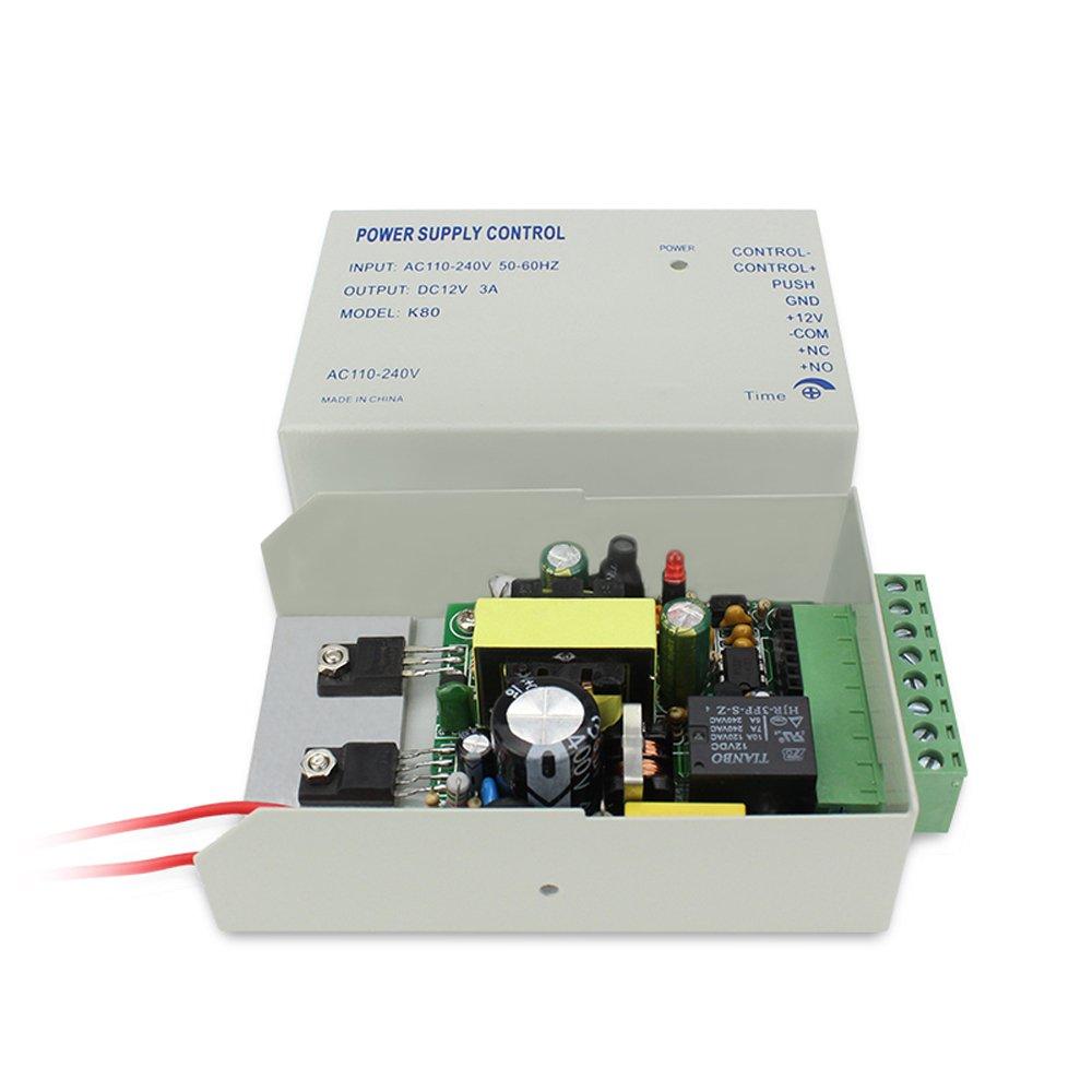 Amazon.com : 4 Puertas Bio Fingerprint & RFID Tiempo de asistencia Sistema de control de seguridad Bloqueo magnético RFID Llaveros Pulsar para salir Botón ...