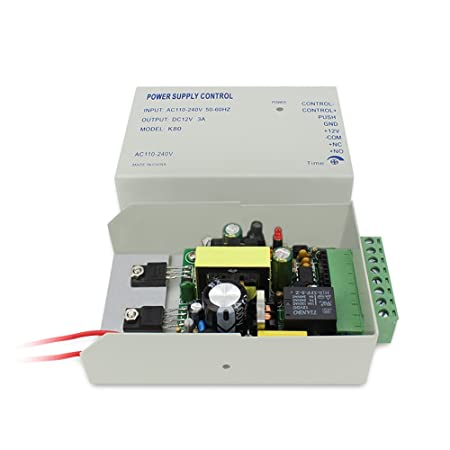 Amazon.com : Track IN y OUT Biometric Fingerprint Sistema de Control de Acceso 600lbs Magnetic Lock 110-240V Fuente de alimentación RFID Keyfobs / tarjetas ...