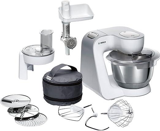 Bosch MUM58224 - Robot de cocina (3,9 L, Blanco, Botones, 1,1 m, Acero inoxidable, De plástico): Amazon.es: Hogar