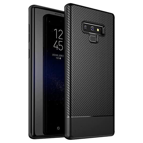 save off ed727 c6669 Galaxy Note 9 Case, Carbon Fiber Design TPU Ultra Thin Flexible Cover Shock  Absorption Scratch Proof Anti-Slip Protective Case Cover for Samsung ...