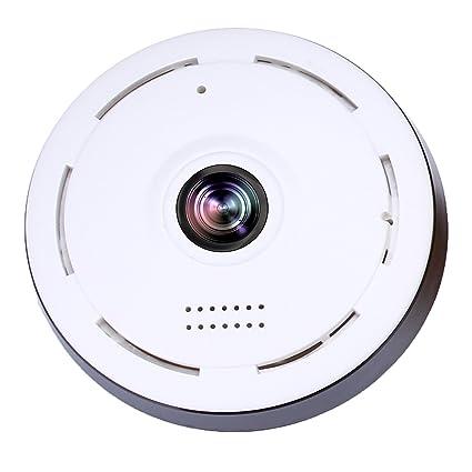 WI-FI Cámara detectora de humo Mini cámara 360 grados Gran angular 3D HD VR