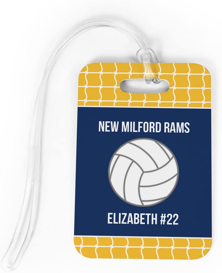 Volleyball Aluminum Bag Tag Personalized with Your Name