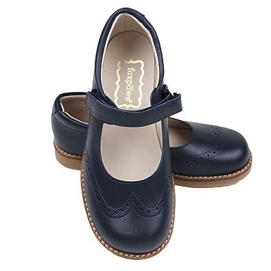 Amazon.com: foxpaws Jane azul marino zapatos de niñas ...