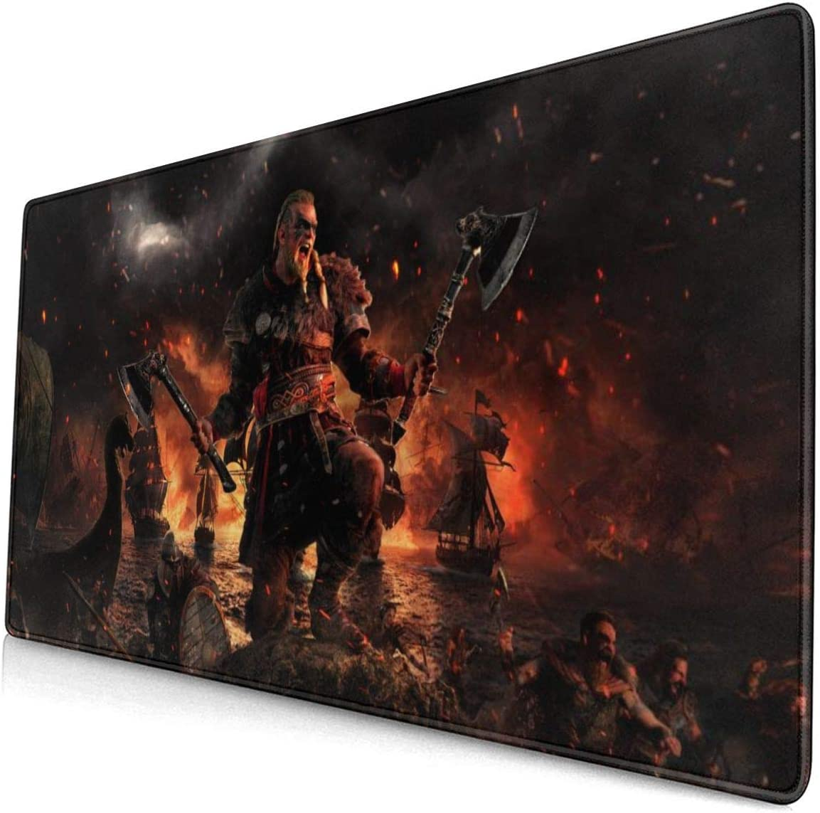 Assassin's Creed Valhalla Rectangle Non-Slip Rubber Mousepad Gaming Mouse Pad 15.7 X 29.5 in