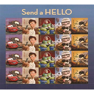 Send a Hello Pixar Films Sheet of 20 Forever Stamps Scott 4553-57 By USPS: Toys & Games