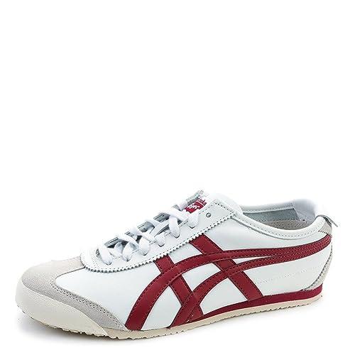 e340fa188b645 ASICS Onitsuka Tiger Men s Mexico 66 Sneakers D4J2L.0125 White Burgundy SZ  7 M  Amazon.ca  Shoes   Handbags