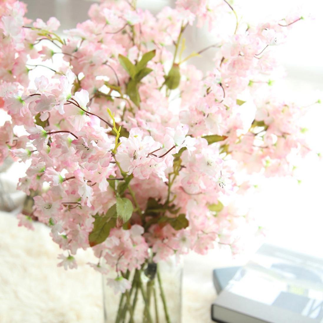 Amazon.com: Artificial Silk Cherry Blossom Fake Flowers , Cywulin ...