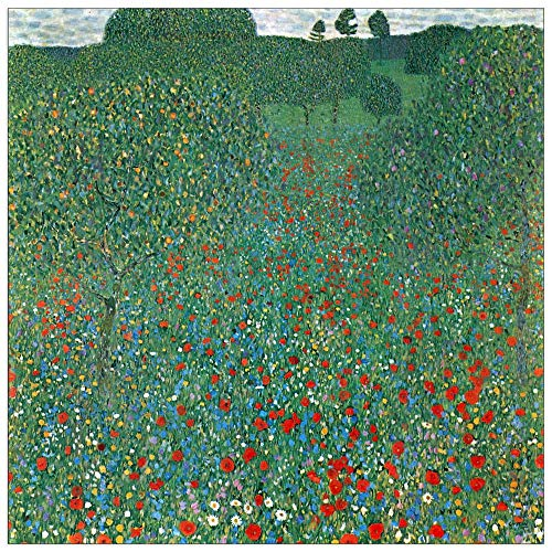 (ArtPlaza TW90405 Klimt Gustav-Poppy Field Decorative Panel, 23.5x23.5 Inch, Multicolored)
