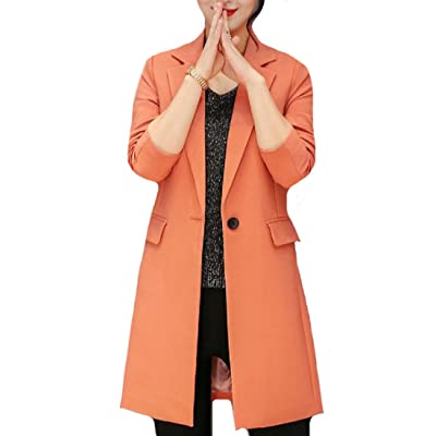RDHOPE Women's Slim Tailoring Mid-Length OL Office Blazer Jacket