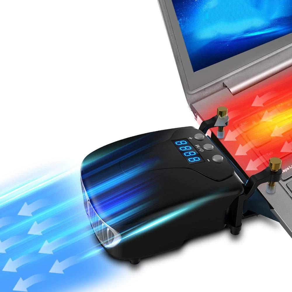 V2AMZ - Strong Laptop Cooling Vacuum Fan External USB Silent Ice Notebook Cooler Digital Display Adjustable Smart Model Cooler VS Pad