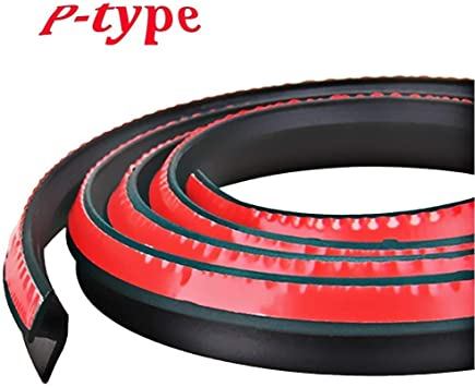 P Type 4M Car Door Rubber Seal Strip Noise Insulation Soundproofing Waterproof