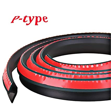 f020d714226a3 Amazon.com  Universal Automotive EPDM Rubber Seal Strip 3M P-shape Self  Adhesive Car Truck Door Window Hollow Weather Strip Soundproof Noise  Insulation ...