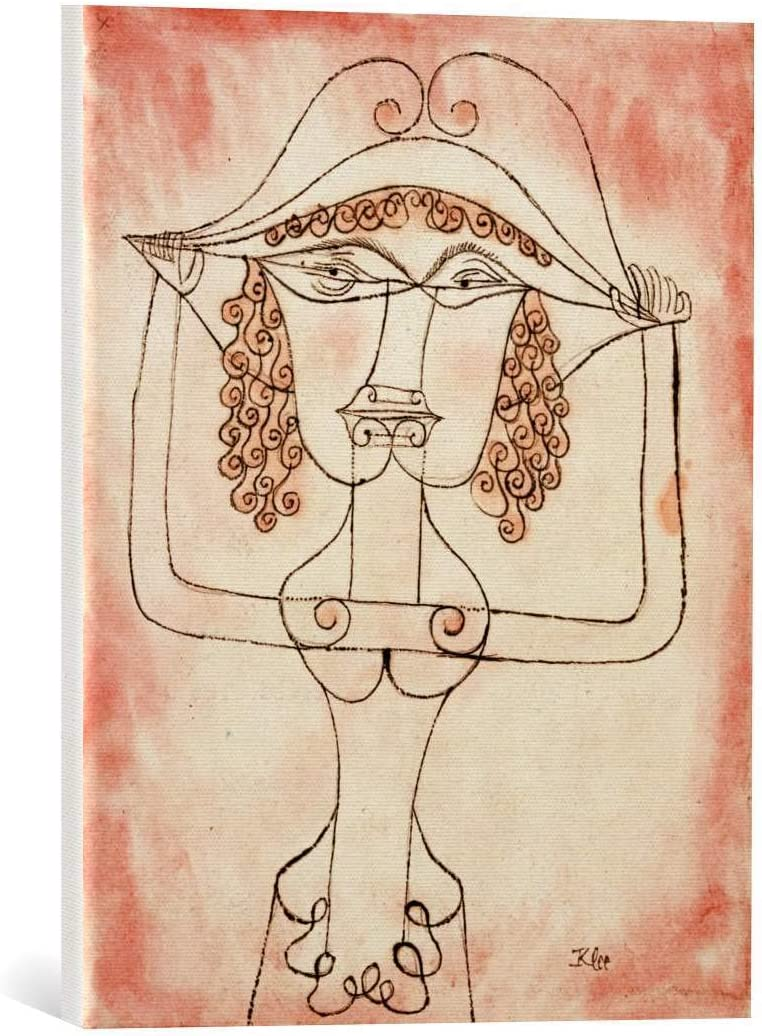 Kunst für Alle Cuadro en Lienzo: Paul Klee Sängerin Der komischen Oper - Impresión artística, Lienzo en Bastidor, 40x50 cm