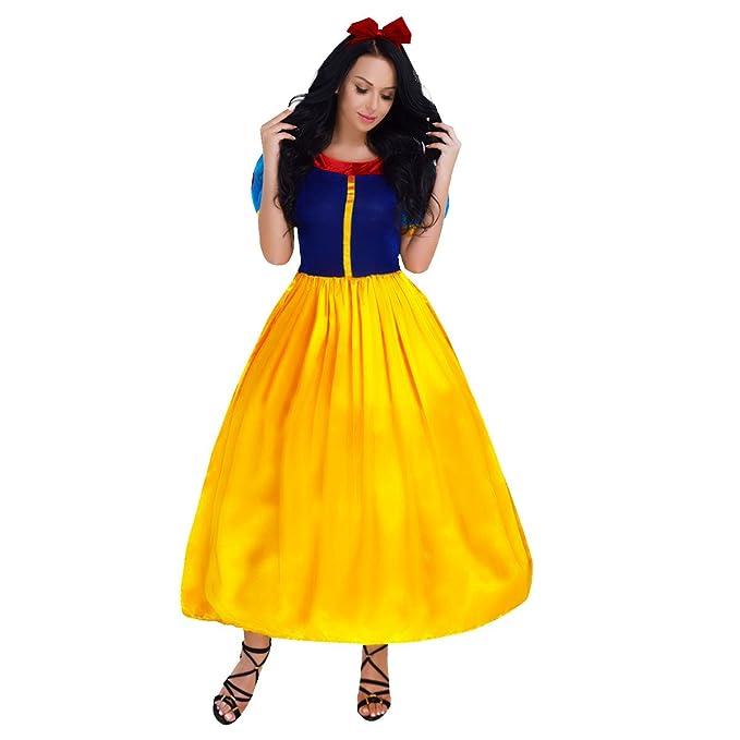 iEFiEL Disfraces de Princesa Fiesta Carnaval Vestido con Diadema o Crinolina para Mujer Niña con Diadema
