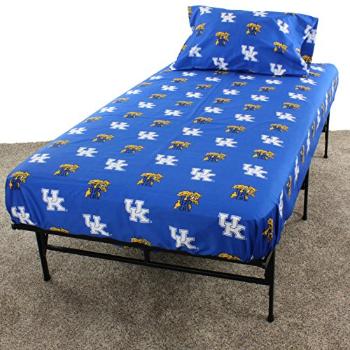 College Covers Kentucky Wildcats Printed Sheet Set - Queen - Solid