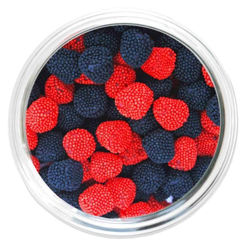 Jelly Belly Raspberries and Blackberries (2.5 Lb Bag) by Jelly Belly