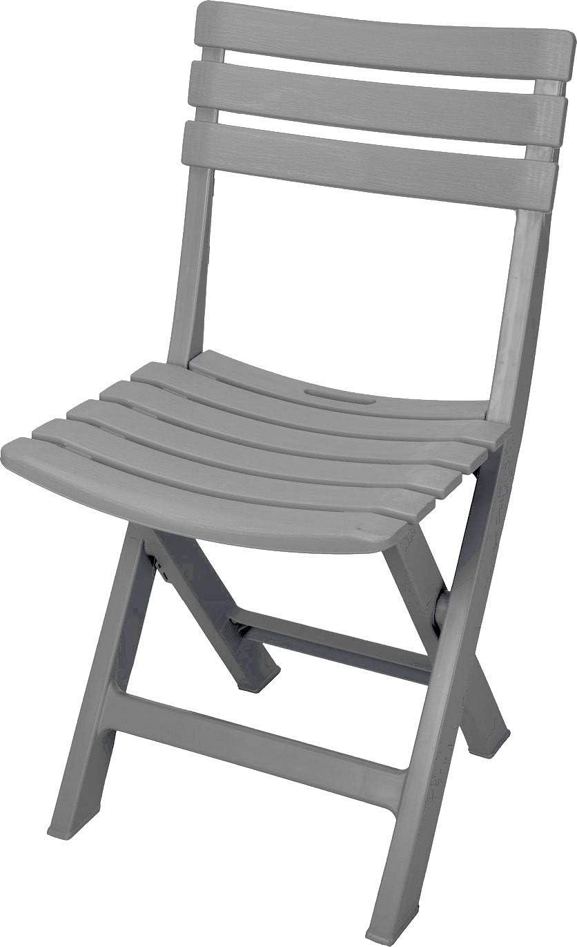 Spetebo Robuster Kunststoff Klappstuhl Gartenstuhl Bistrostuhl Balkonstuhl Campingstuhl blau//grau