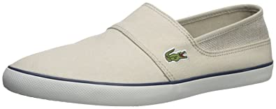 Marice 218 Beige Navy Canvas Mens Slip-Ons Shoes Lacoste