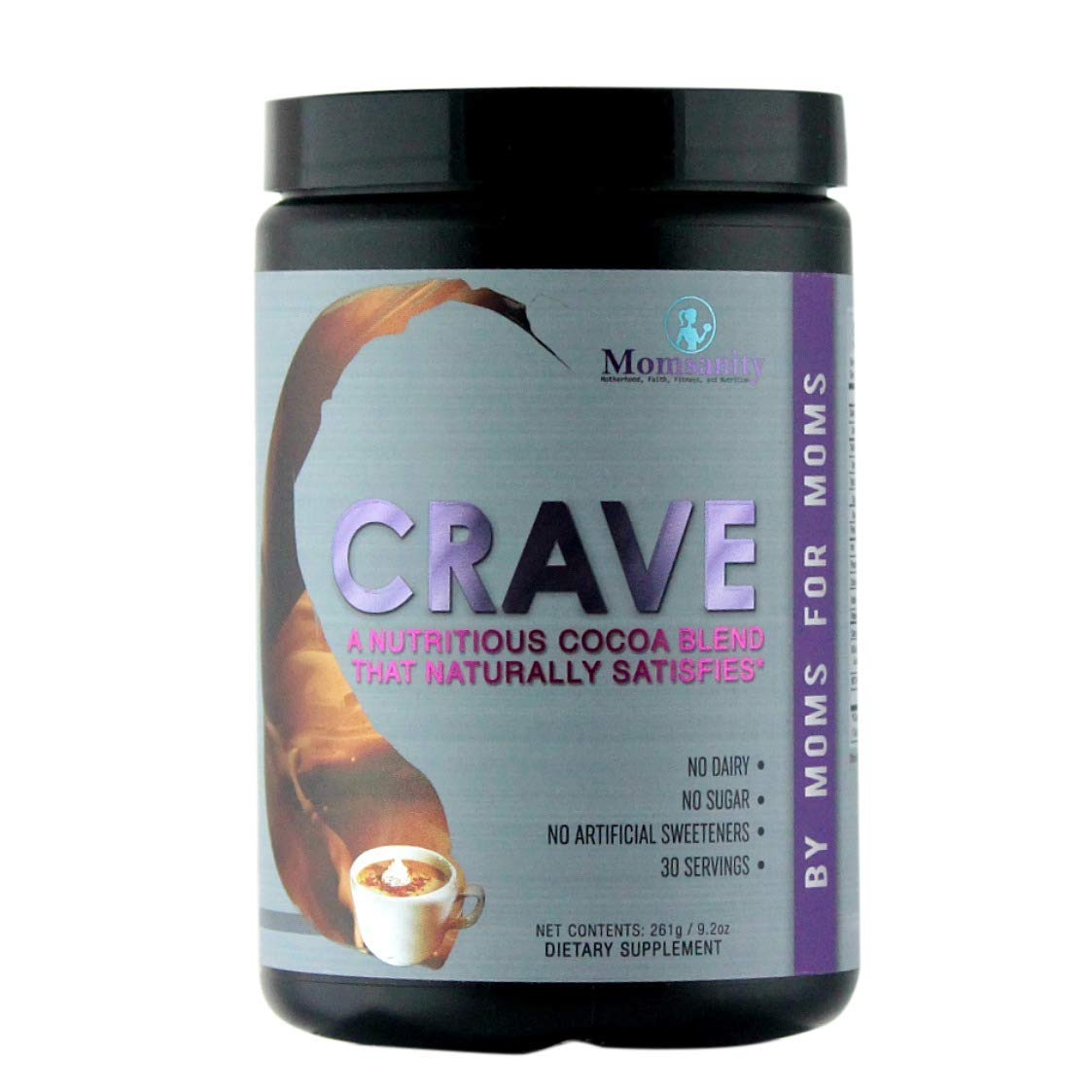 Crave: A Nutritious Cocoa Blend that Naturally Satisfies - 30 servings by Momsanity