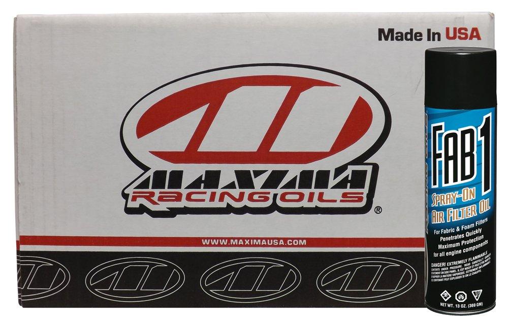 Maxima Racing Oils CS61920-12PK-12PK Fab1 Air Filter Aerosol Spray - 156 oz., (Pack of 12)