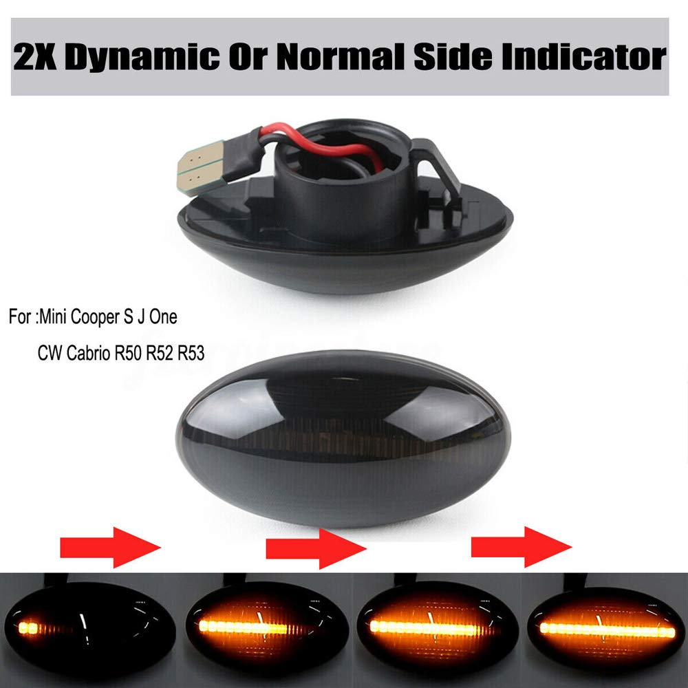 Festnight-1 Coppia 2 pz Indicatore Luminoso a LED per luci Laterali a LED per Mini Cooper S JCW R50 R53 R52