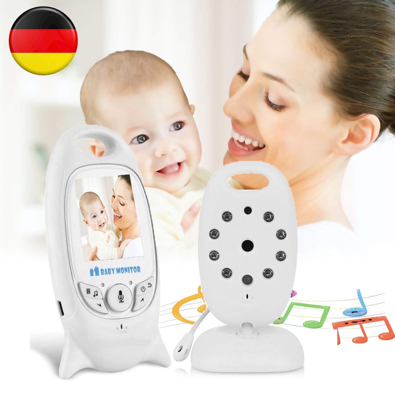 LUKASO Digital Wireless Babyphone mit Kamera Farbe Video Monitor Nachtsicht Babypflege