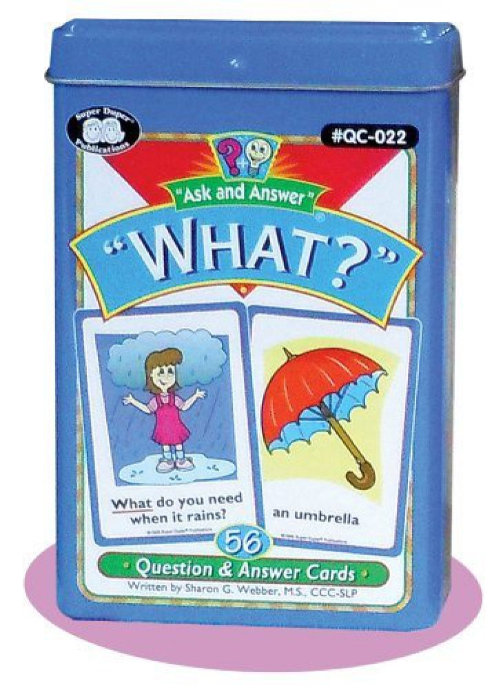 "Amazon.com: Ask and Answer ""What?"" Questions Card Deck - Super Duper ..."