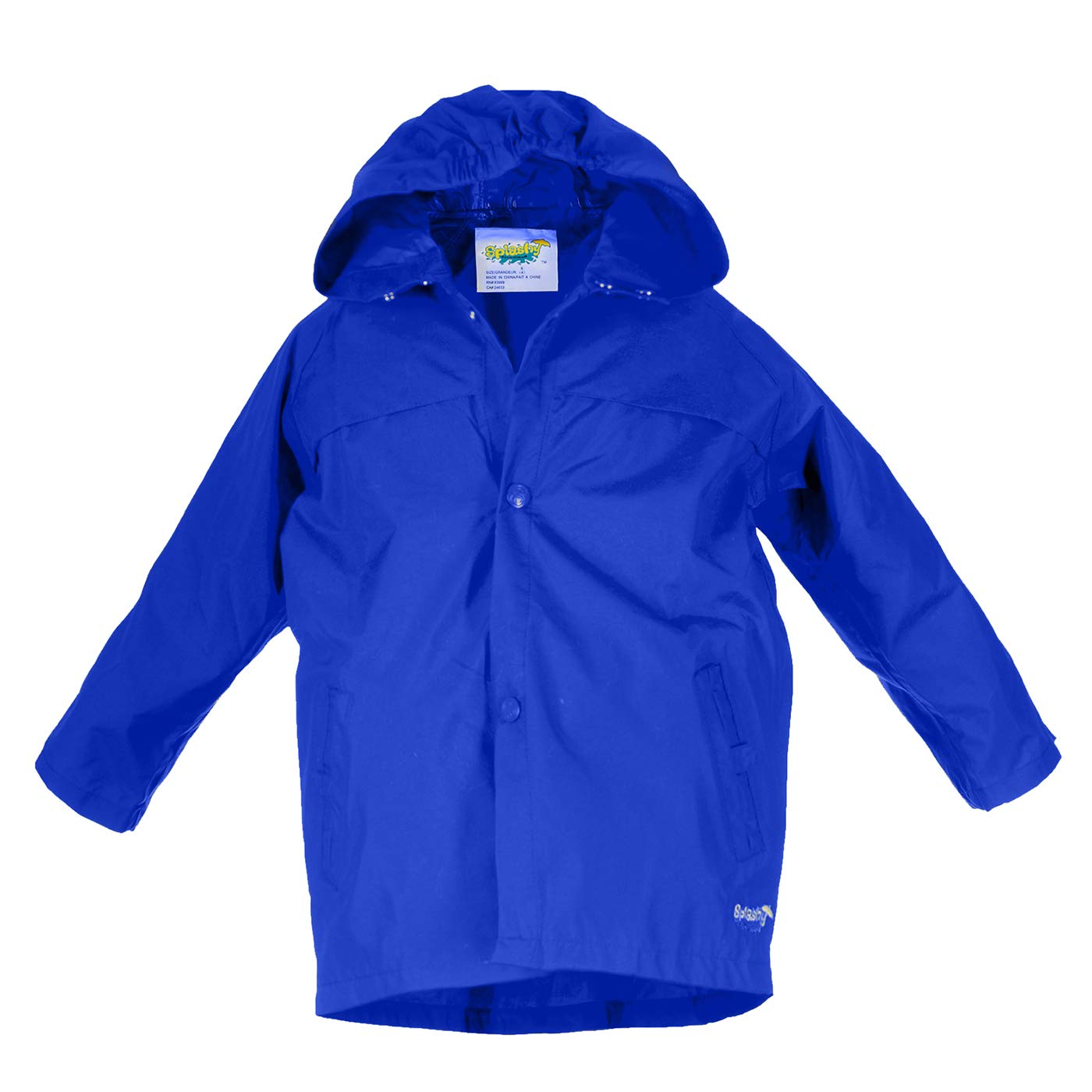 Splashy Nylon Children's Rain Jacket (6X/7, Royal Blue)