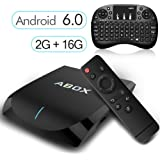 [Gratis Mini Tastiera Wireless] Android 6.0 TV Box 2GB/16GB, 2017 Modello GooBang Doo ABOX A2 Amlogic 64 Bits Quad Core Smart TV Box Supporto Vero 4K Dual Band WiFi 2.4GHz/5GHz Bluetooth 4.0