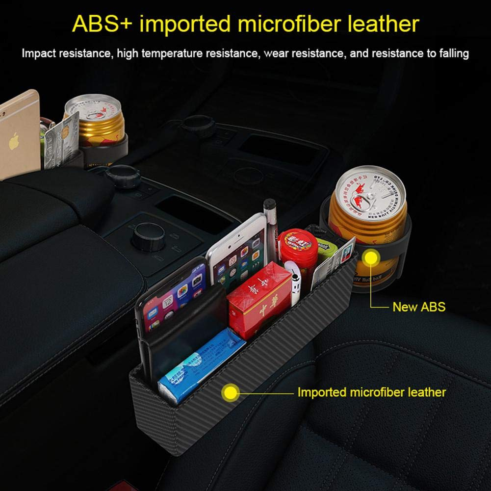 Sunglasses Cellphone lesgos Car Seat Gap Filler Detachable Car Console Seat Side Organizer for Card Universal Car Seat Crevice Storage Box with Cup Holder and Coin Box Wallet