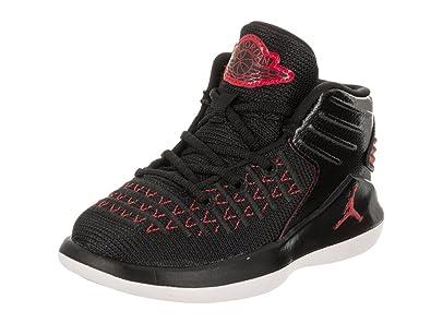 best service e7aae 185d4 Nike Jordan Toddlers Jordan XXXII BT Black University Red Basketball Shoe  10 Infants US