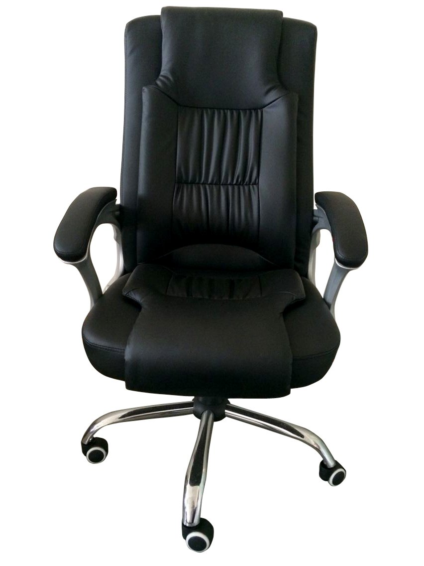 Leather Computer Chair Part - 42: Amazon.com: Exacme High Back Leather Executive Office Chair With Metal  Base: Patio, Lawn U0026 Garden