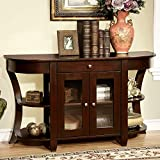 1PerfectChoice Newell Hallway Console Sofa Table Cabinet Drawer Open Shelves Wood Dark Cherry For Sale