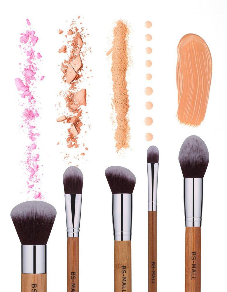 Amazon.com: BS-MALL Bamboo Silver Premium Synthetic Kabuki Makeup ...