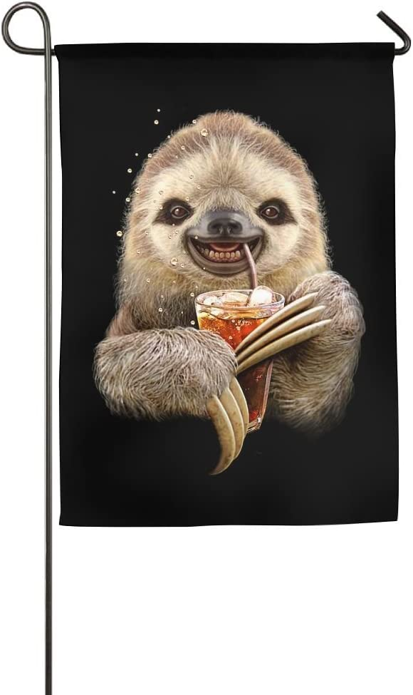 EHAKB Sloth Animals Home Flag Cute Garden Flag Concise Outdoor Flags Funny Yard Flag