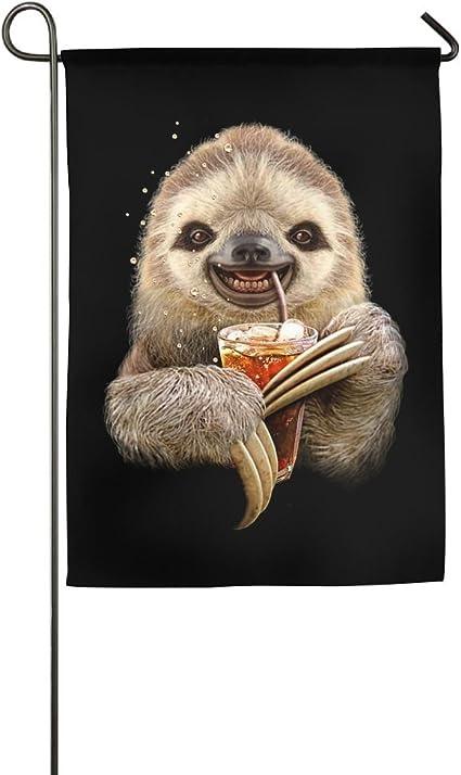 Amazon Com Ehakb Sloth Animals Home Flag Cute Garden Flag Concise Outdoor Flags Funny Yard Flag Garden Outdoor