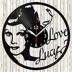 I Love Lucy Vinyl Record Wall Clock Decor Handmade Unique Original Gift