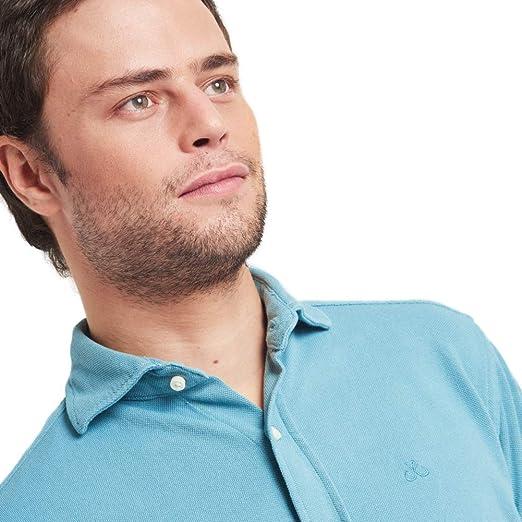 HOOK Camisa Polera Manga Larga para Hombre Color Liso Azul Claro ...
