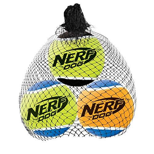 Nerf Dog Small Squeak Tennis Balls Dog Toy (3 Pack)