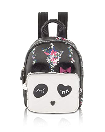 791e31aca6d Amazon.com   Betsey Johnson Women s Kitsch Backpack Black Floral One ...