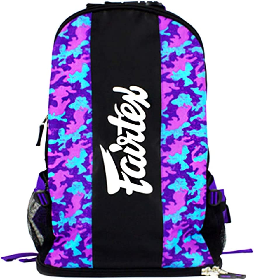 Fairtex Backpack Gear Equipment Bag-4 67% OFF of fixed price Camo Kick Muay Purple 70% OFF Outlet Thai
