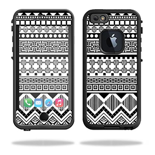 Mightyskins Protective Vinyl Skin Decal Cover for Lifeproof iPhone 6/6S Case fre Cover wrap sticker skins Black Aztec