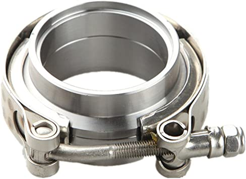 """2.5/"""" Self Aligning Male//Female Vband Clamp CNC Stainless Steel Flange Kit"""